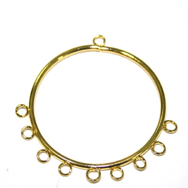 10 x 28mm ring with 7 drops earring attachment - S.F06 -  WC033 - 2503038
